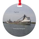 Saginaw Round Ornament