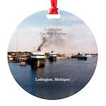 Ludington Car/rail Ferries Round Ornament