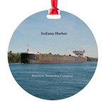 Indiana Harbor Round Ornament