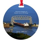 American Integrity In Duluth Round Ornament