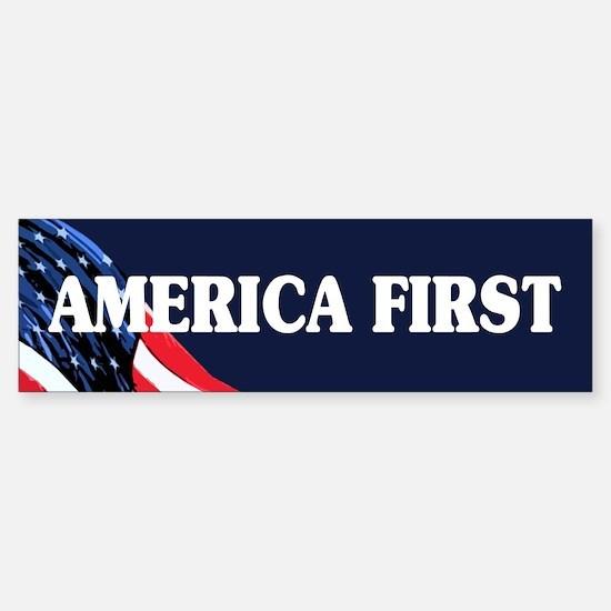 America First Bumper Bumper Bumper Sticker