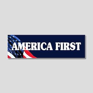 America First Car Magnet 10 x 3
