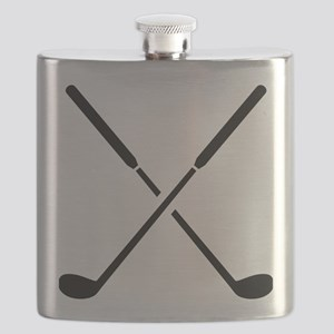 Crossed golf clubs Flask