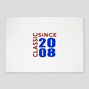 Classic Since 2008 Birthday Designs 5'x7'Area Rug