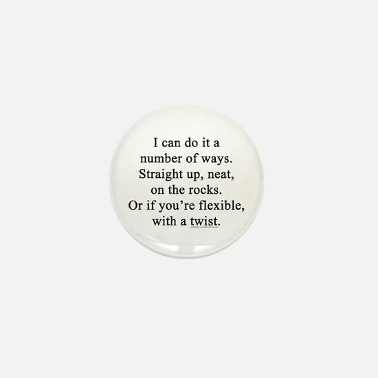 Funny Waiter Mini Button