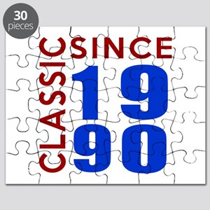 Classic Since 1990 Birthday Designs Puzzle
