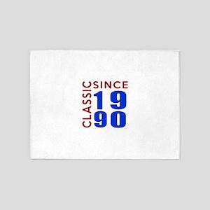 Classic Since 1990 Birthday Designs 5'x7'Area Rug