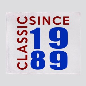 Classic Since 1989 Birthday Designs Throw Blanket