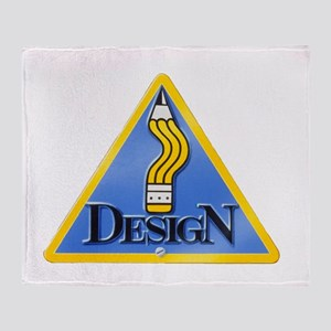 Bent Pencil Sign Throw Blanket