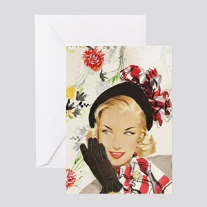 Vintage Blonde Greeting Cards