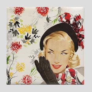 Vintage Blonde Tile Coaster