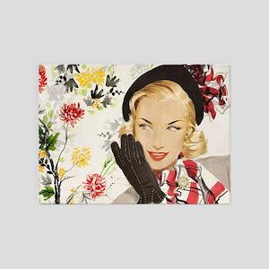 Vintage Blonde 5'x7'Area Rug