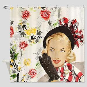 Vintage Blonde Shower Curtain
