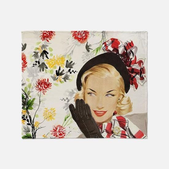 Vintage Blonde Throw Blanket