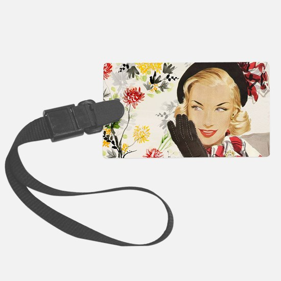 Vintage Blonde Luggage Tag