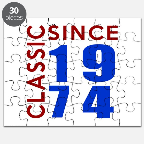 Classic Since 1974 Birthday Designs Puzzle