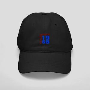 Classic Since 1968 Birthday Designs Black Cap