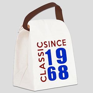 Classic Since 1968 Birthday Desig Canvas Lunch Bag
