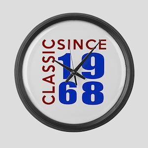 Classic Since 1968 Birthday Desig Large Wall Clock