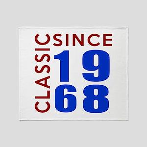 Classic Since 1968 Birthday Designs Throw Blanket