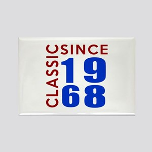 Classic Since 1968 Birthday Desig Rectangle Magnet
