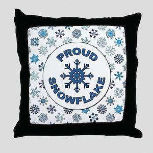 PROUD SNOWFLAKE Throw Pillow