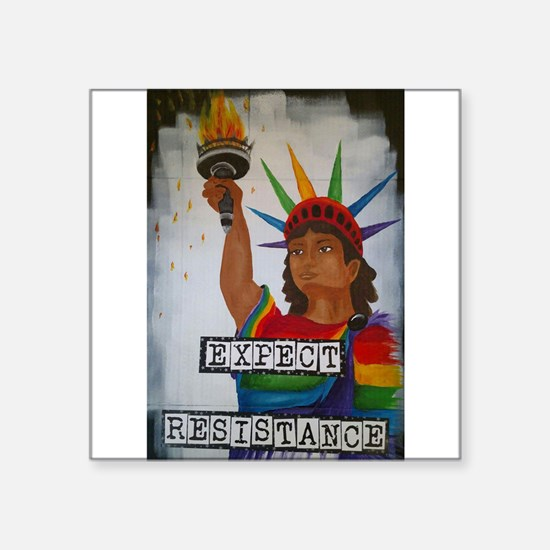 Expect Resistance Sticker