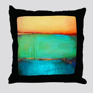 ROTHKO YELLOW GREEN TURQUOISE Throw Pillow