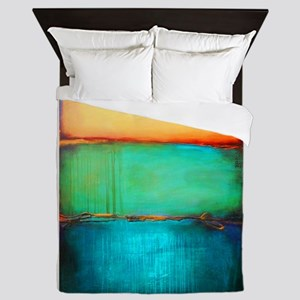 ROTHKO YELLOW GREEN TURQUOISE Queen Duvet