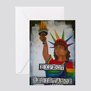 Expect Resistance Greeting Cards