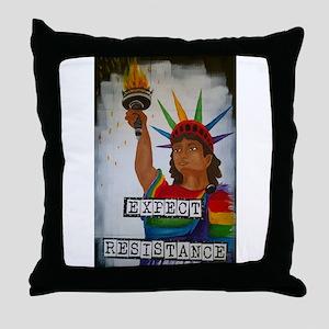 Expect Resistance Throw Pillow