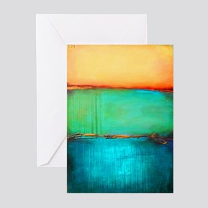 ROTHKO YELLOW GREEN TURQUOISE Greeting Cards