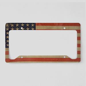 Vintage U.S. Flag (36 Star) License Plate Holder