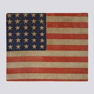 Vintage U.S. Flag (36 Star) Throw Blanket
