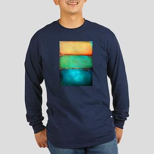 ROTHKO YELLOW GREEN TURQUOISE Long Sleeve T-Shirt