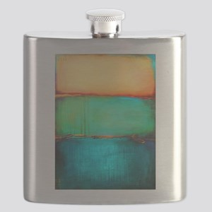 ROTHKO YELLOW GREEN TURQUOISE Flask