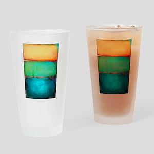 ROTHKO YELLOW GREEN TURQUOISE Drinking Glass