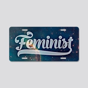 Feminist Space Galaxy Pattern Aluminum License Pla