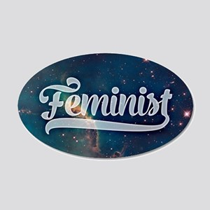 Feminist Space Galaxy Pattern Wall Decal