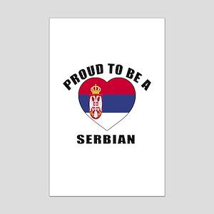 Serbian Patriotic Designs Mini Poster Print
