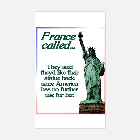 France Called Rectangle Decal
