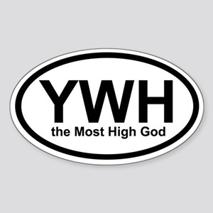 YWH the Most High God Oval Sticker