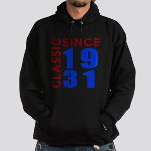 Classic Since 1931 Birthday Designs Hoodie (dark)