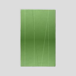Green Modern Line Print Area Rug