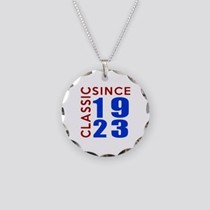 Classic Since 1923 Birthday Necklace Circle Charm