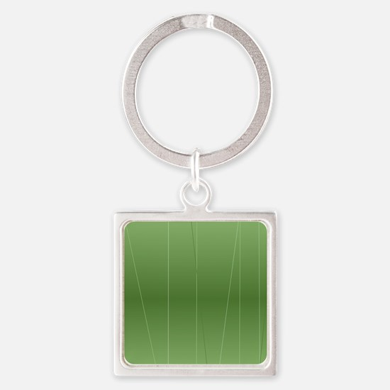 Green Modern Line Print Keychains