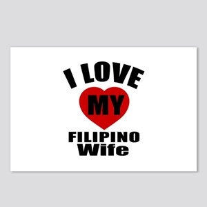 I Love My Filipino Wife Postcards (Package of 8)