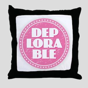 Deplorable - Pink Throw Pillow