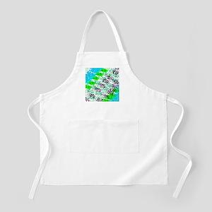 Sponge Print Green/Teal/Black Apron
