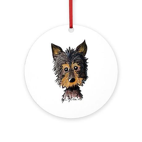 Yorkie Pup Keepsake (Round)